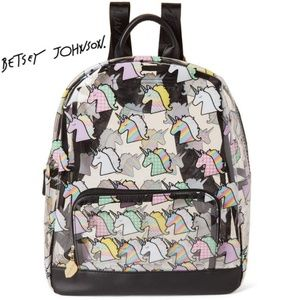 New! Betsey Johnson Clear Unicorn PVC Backpack
